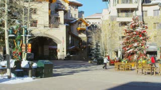 Telluride Resort Lodge Decorated for Christmas