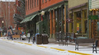 Telluride Storefronts at Christmas