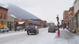 Telluride Traffic in Snow