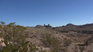Texas Big Bend Mule Ears slow zoom in