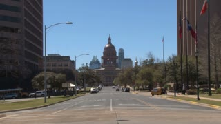 Texas Capitol Building Down Road