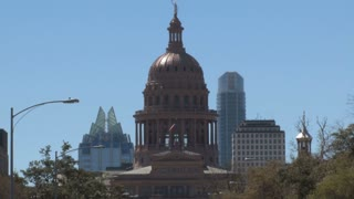 Texas Capitol Dome Skyline View
