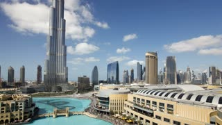 The Burj Khalifa Dubai a Futuristic Modern Design Structure, the Burj Khalifa was completed in 2010 and is the worlds tallest building, Dubai, UAE, T/Lapse