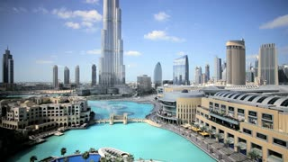 The Burj Khalifa Dubai,the Burj Khalifa was completed in 2010 and is the worlds tallest building, Dubai, UAE, T/Lapse