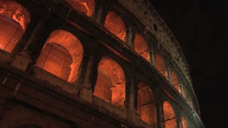 The Colosseum at Night Zoom In