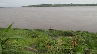 The Congo River With Boats