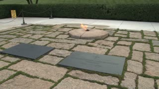 The Eternal Flame at John F. Kennedys Gravesite 2