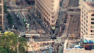 The Flatiron Building | New York City | 4K Timelapse tilt shift of the iconic Flatiron Building in New York City.