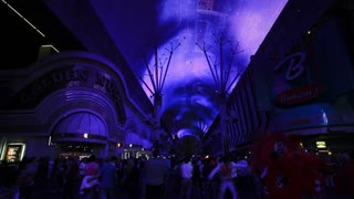 The Freemont Street Experience in Downtown Las Vegas, Las Vegas, Nevada, USA - Time lapse