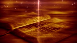 The Holy Bible. Open Religious Scriptures Background