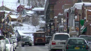 The Main St, Park City Utah In Winter