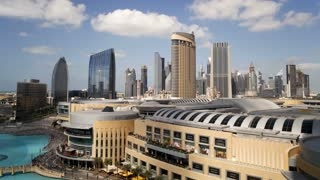 The Modern Architecture and Development of city Malls and Skyscrapers Dubai City, UAE,