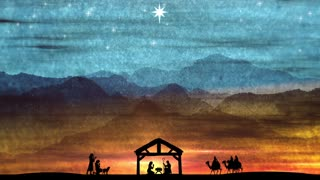 The Night Hope Was Born. Christmas Advent Nativity Background