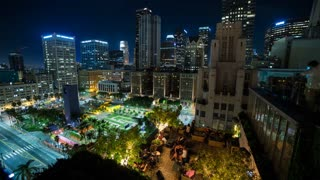 The Perch Restaurant With Pershing Square in Downtown Los Angeles Timelapse