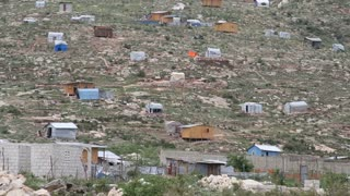 The Scattered Tin And Wood Shacks In Haiti