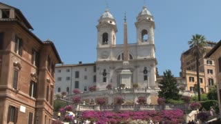 The Triniti dei Monti Church at Top of Spanish Steps 2