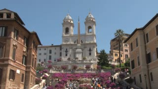 The Triniti dei Monti Church at Top of Spanish Steps 3