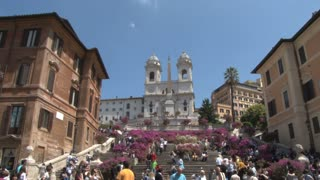 The Triniti dei Monti Church at Top of Spanish Steps 4