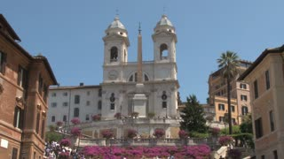 The Triniti dei Monti Church at Top of Spanish Steps