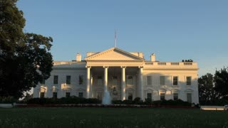 The White House with Fountain in the Front