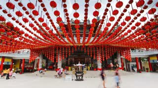 Thean Hou Chinese Temple, Kuala Lumpur, Malaysia, Southeast Asia, Asia, Time lapse