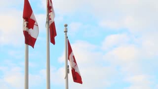 Three Canadian Flags