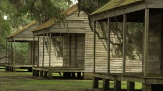 Three Slave Shacks Deep South