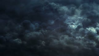 Thunderstorm and dark clouds animation