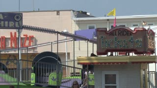 Tilt-a-Whirl and Ticket Booth on Ocean City Boardwalk