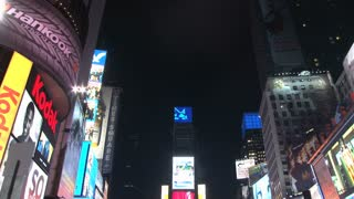 Tilt Down to Times Square at Night 2