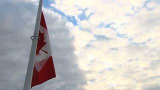 Tilt From Canadian Flag To Harbor