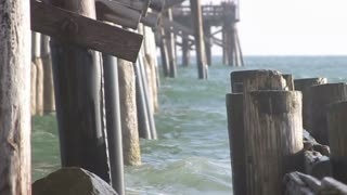 Tilt on ocean and dock