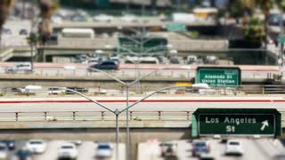 Tilt Shift Los Angeles Overpass Downtown