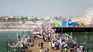 Tilt Shift Santa Monica Pier Timelapse