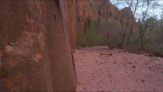 Tilt Up Along Sandstone Cliffs