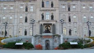Tilt Up on Facade of Parliament Building
