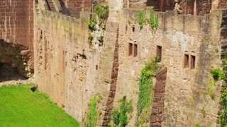 Tilt Up on Heidelberg Castle Ruins