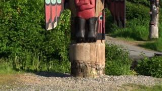 Tilt Up Tall Wood Totem Pole