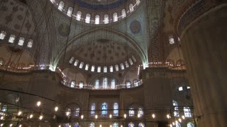 Tilt Up to Blue Mosque Dome Artwork