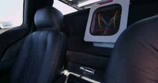 TIlt up to Flux Capacitor on Interior of Delorean 4K