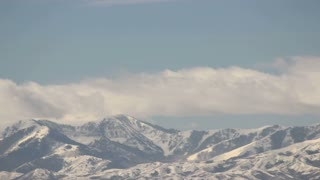 Time Lapse Clouds Rushing Across Utah Mountain Peaks