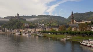 Time lapse, Cochem castle, Rhineland-Palatinate, Germany