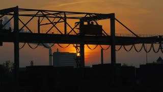 time lapse. container industrial industry business. logistics. silhouette