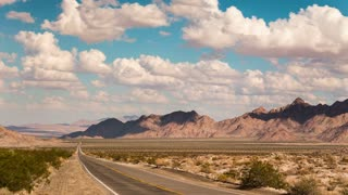 Time Lapse Desert Road Clouds