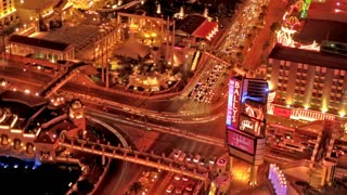 Time Lapse electric night scape in Las Vegas