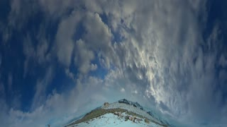 Time Lapse Fisheye Clouds 2