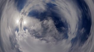 Time Lapse Fisheye Clouds 4