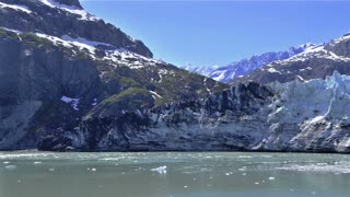 Time Lapse glaciers in water