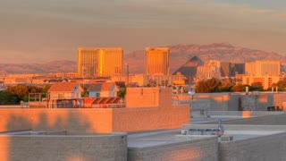 Time Lapse Las Vegas skyline through buildings