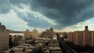 time lapse manhattan cloudy day nyc